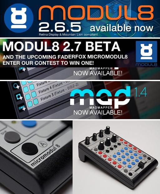 Actualizaciones de Modul8 2 7(beta) y MadMapper 1 4  Manual