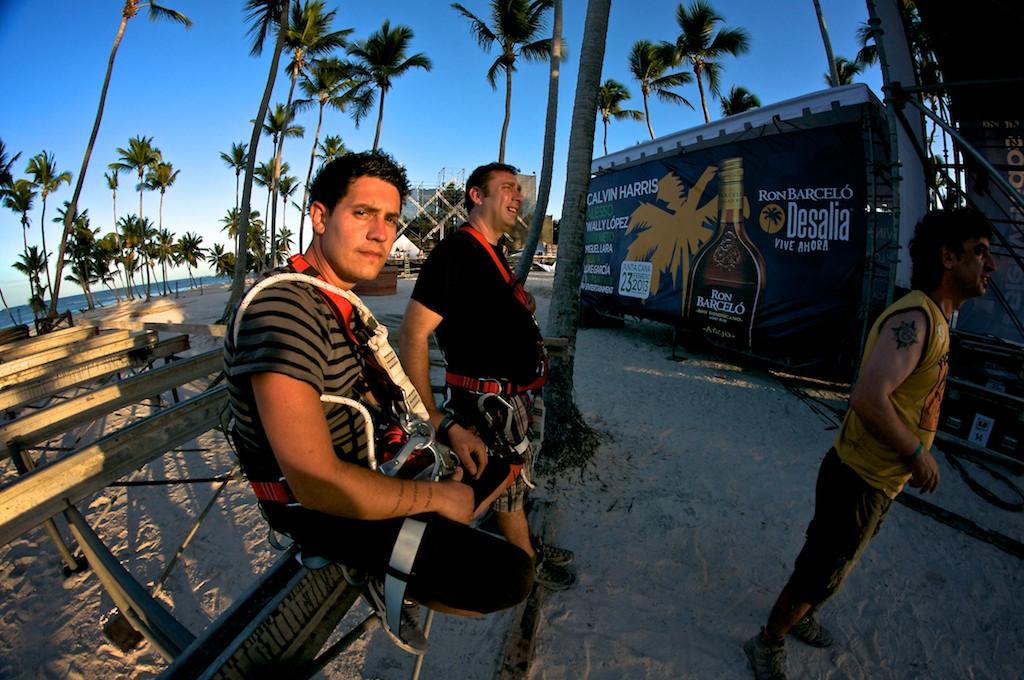 Luis y Rober, los técnicos de vídeo. Unos campeones.