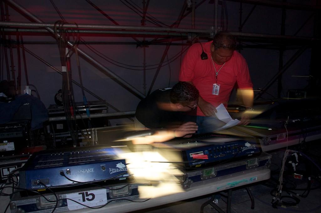 Técnicos de luces