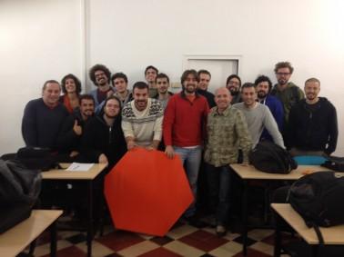 Los alumnos con Alla Yanovsky